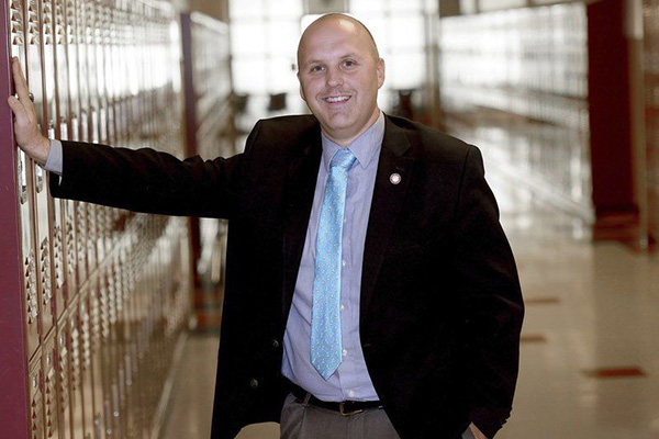 Brian Stack, principal at Sanborn Regional High School, was voted principal of the year for New Hampshire.
