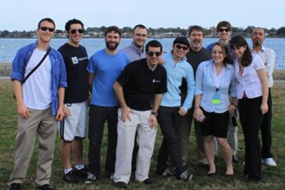 From left are Chris Nonis, Jack LoPiccolo, Chris Page, Troy Lunstrom, Tim Marinone, Eric Harvey, Pete Avitabile, Julie Harvie, Lou Thibault, Jen Carr, Javad Baqersad