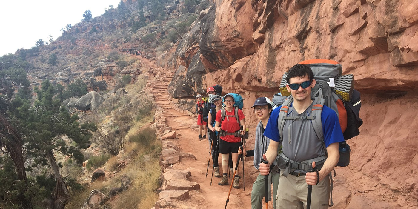 students on OAP Grand Canyon Trip
