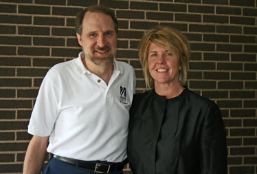 Prof. Robert Giles with the donor, Kristen Williams.