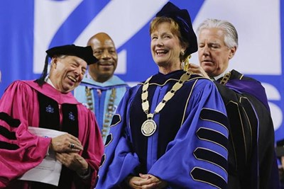 Jacqueline Moloney was inaugurated Thursday at the Tsongas Center. Photo by Wendy Maeda/Globe Staff