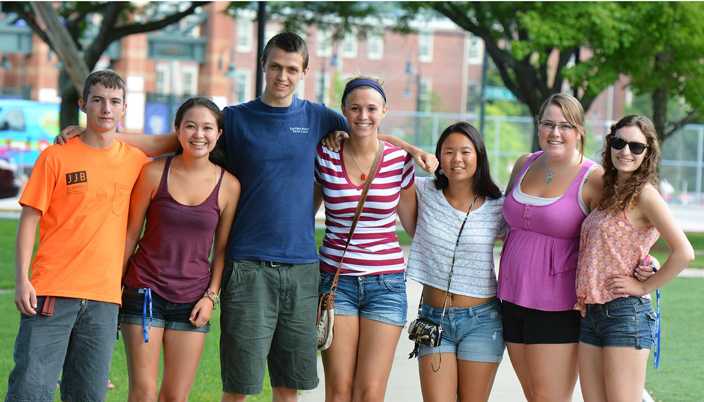 Group of students on east campus