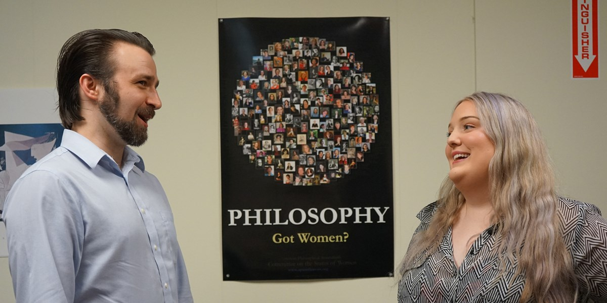 Hannah Daly talks with Asst. Prof. of Philosophy Nick Evans