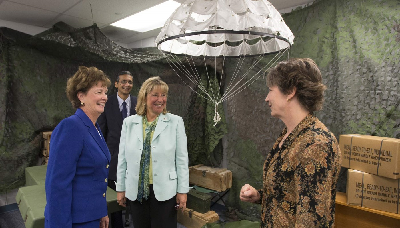 State Sen. Karen Spilka toured HEROES with Chancellor Moloney.