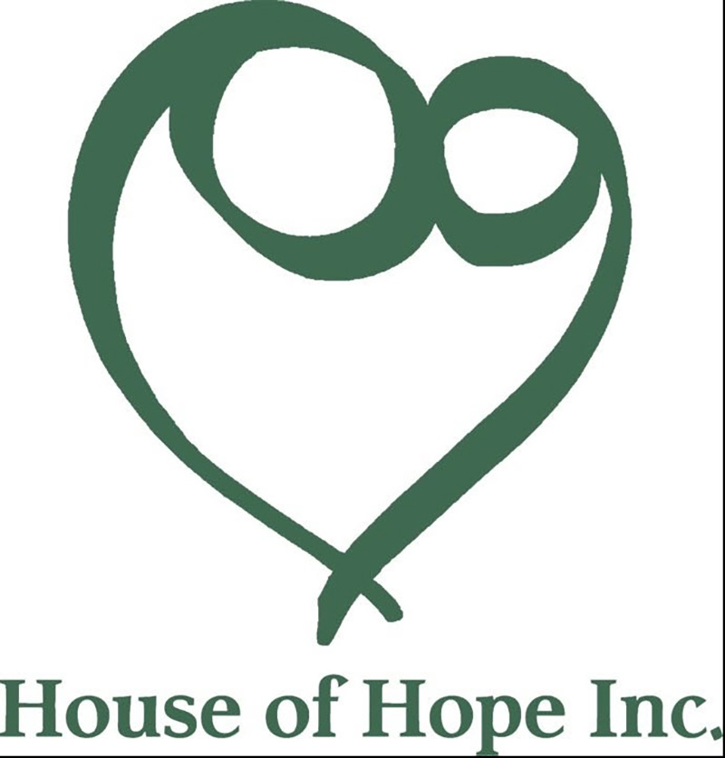 House of Hope logo. The House of Hope collects items to support their mission of ending homelessness for families.
