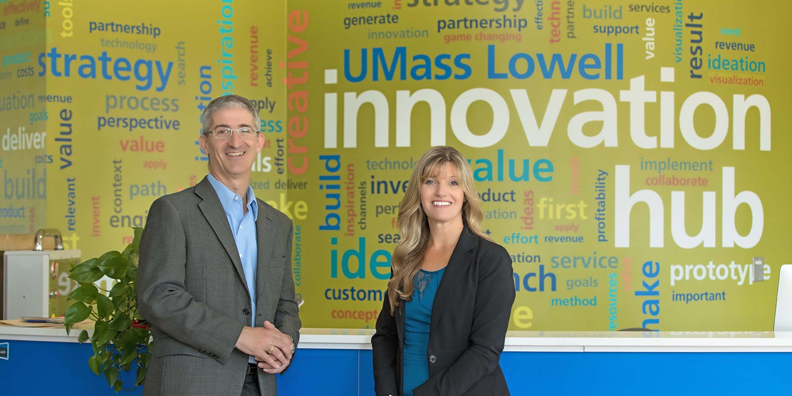 Innovation Hub leadership: Tom O'Donnell, Lisa Armstrong