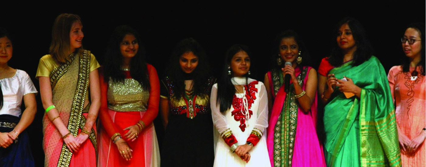 Girls on stage at the Culture Fest.
