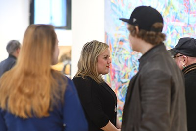 UML students were all over Lowell's galleries in four exhibits