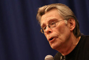 Stephen King performed to a sold-out crowd after spending the day at UMass Lowell.