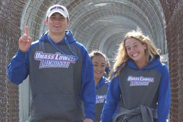 Members of the university's men's and women's lacrosse teams, including Mark Campanile, Sophia Poirier and Kendyl Finelli, participated in a suicide prevention walk, raising nearly $5,000.