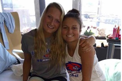 UMass Lowell lacrosse players Kelly Moran and Noelle Lambert are recovering from a moped accident on Martha's Vineyard.