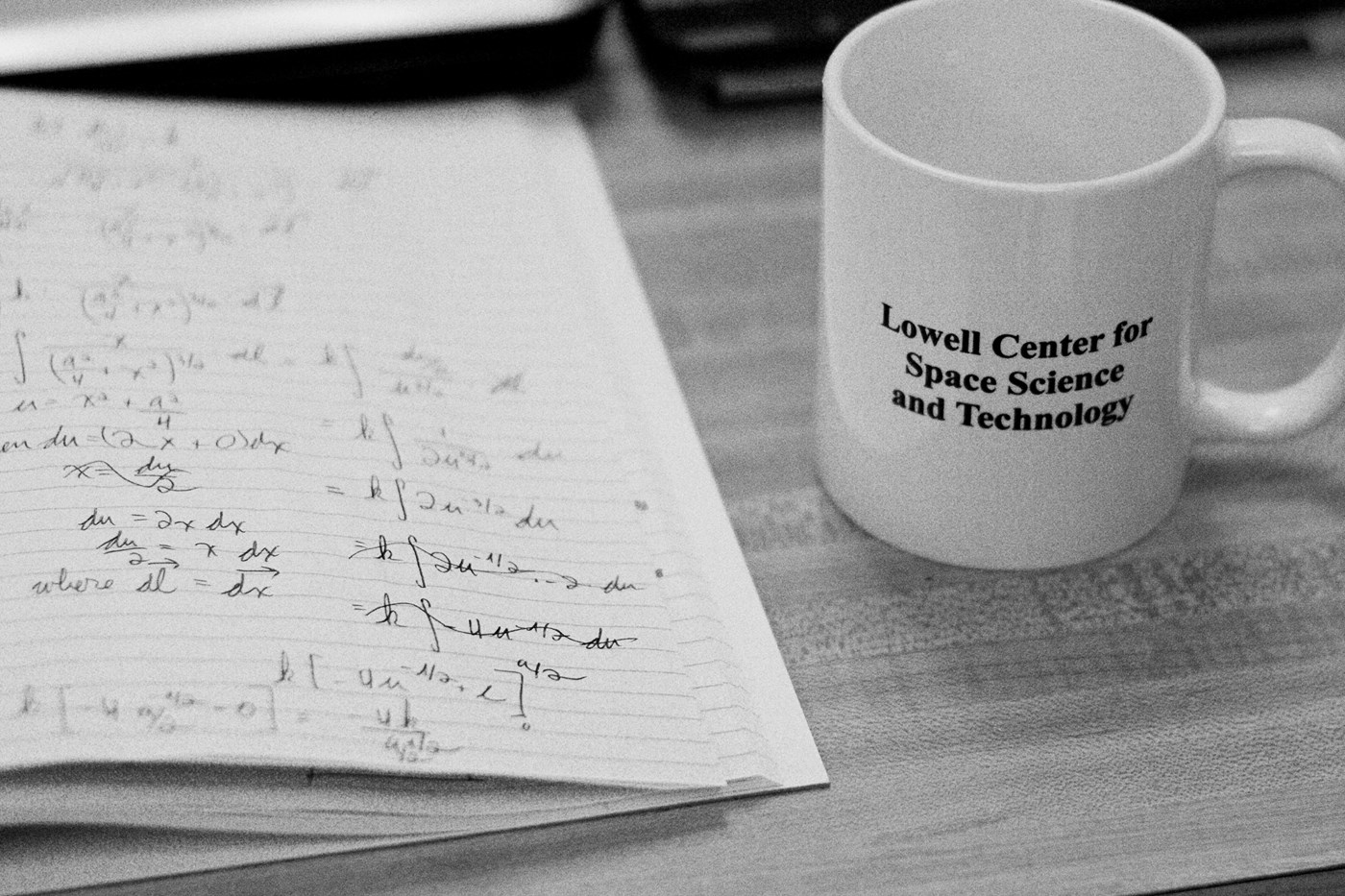 Lowell center for space science and technology mug and notebook