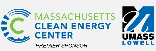 Massachusetts Clean Energy Center and UMass Lowell logos - they are sponsoring the forum.
