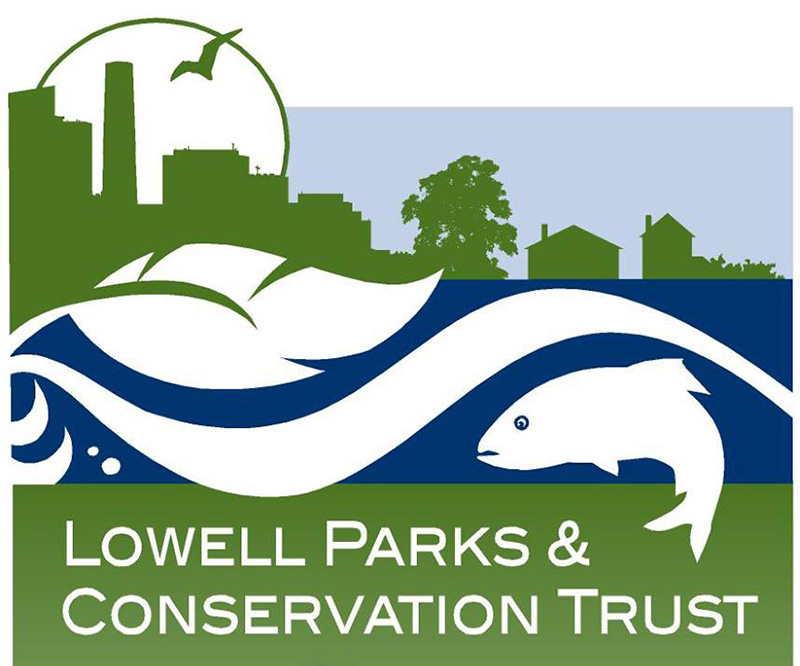 Lowell Parks and Conservation Trust logo. The Lowell Parks & Conservation Trust's mission is to improve the quality of life for the people of Lowell through the creation, conservation, and preservation of parks, open spaces, and special places.