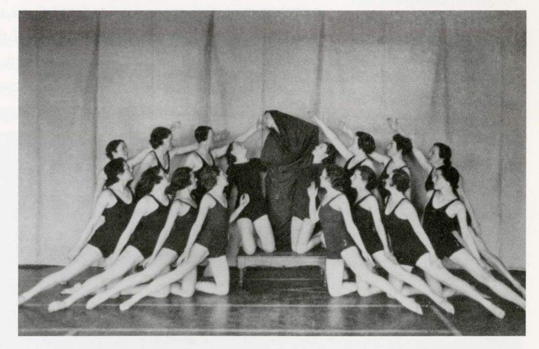 1936 modern dance club from the Lowell Teachers' College
