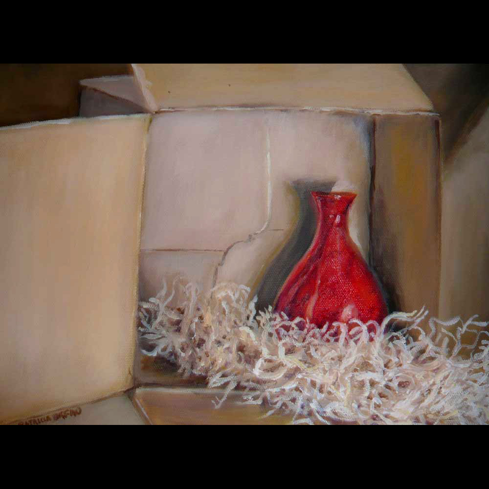Patricia-Orfao-Art-Red-Bottle