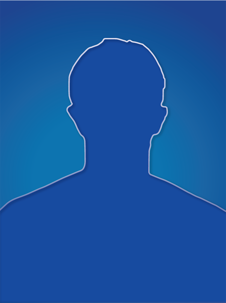 generic faculty blue silhouette of a male head and shoulders