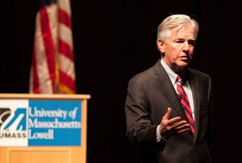 "Chancellor Marty Meehan will moderate a panel discussion titled ""What to Look for in the 2012 Presidential Primaries"" on Nov. 7."