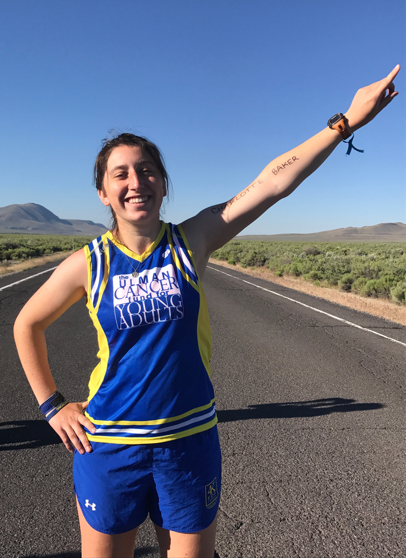 Meghan Berking participating in the Ulman Cancer Fund for Young Adults 4K, a run from San Francisco to New York City