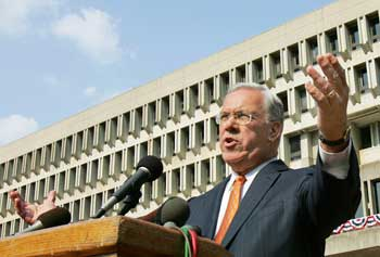 Boston Mayor Thomas Menino will speak at UMass Lowell as part of the 2013 Lunchtime Lecture Series. WBUR courtesy photo.