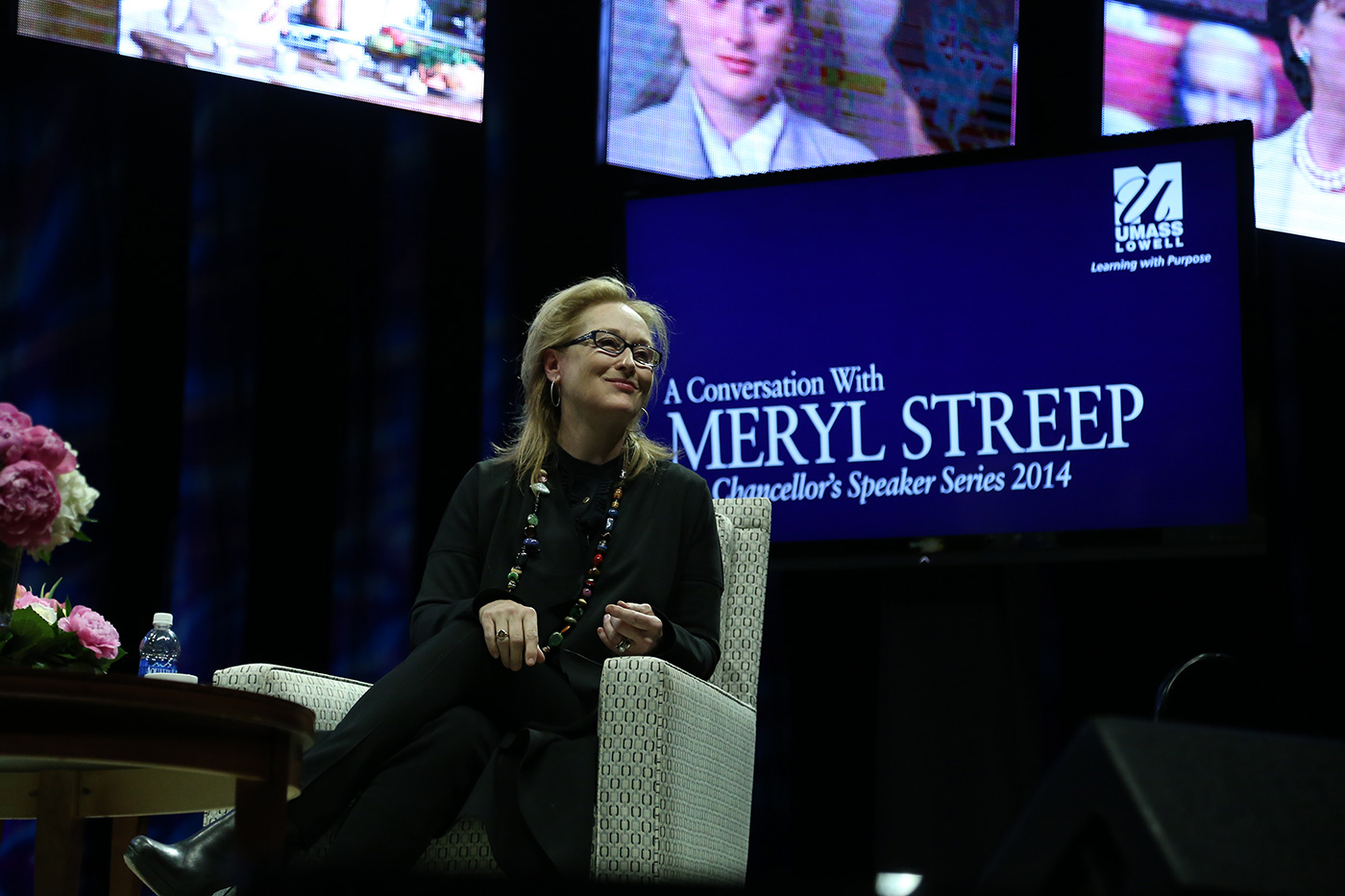 Meryl Streep, considered by many to be the greatest actress of our time, discussed her life, career and more at UMass Lowell at the Chancellor's Speaker Series on April 1, 2014.