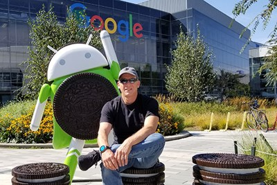 Android co-founder Rich Miner '86, '89, '97 at Google corporate headquarters in Mountain View, Calif., in 2017