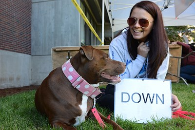 Molly the pit bull and her owner Katie Robinson are a dynamic duo