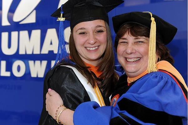 Marcelle Durrenberger and her mom Jocelyne of Hudson will be graduating together from  UMass Lowell May 14.