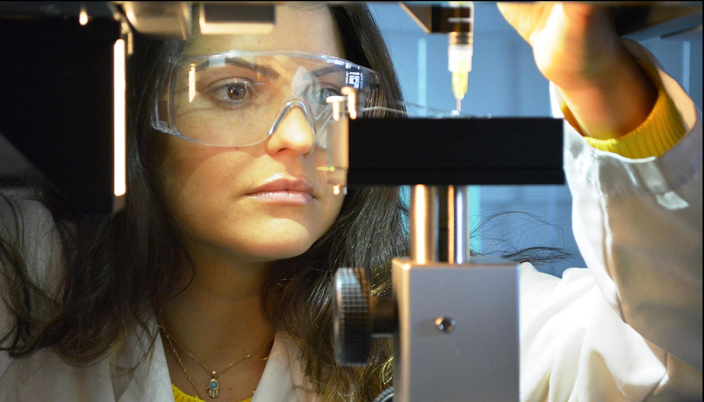 Woman in nano lab
