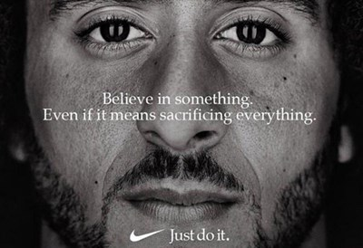 Nike billboard featuring Colin Kaepernick