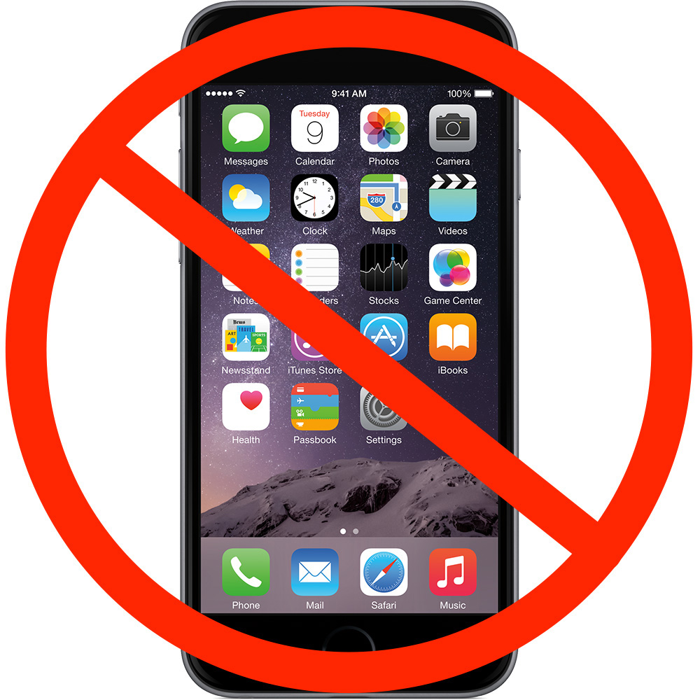 Clipart: no cellphones. At the UMass Lowell Testing Centers: No extra items are allowed in the testing areas. This includes, but is not limited to:  cell phones smart watches eye glass cases pencil boxes, etc. Bringing these materials in with you may be considered as academic dishonesty.