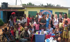 UMass Lowell students at an orphanage