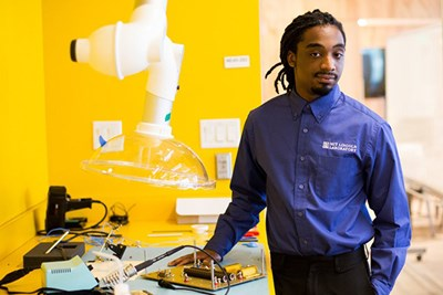 Shawn Reese, an engineering student at UMass Lowell, had a summer internship at M.I.T.'s Lincoln Laboratory.