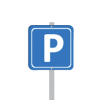 Illustration of a blue parking sign