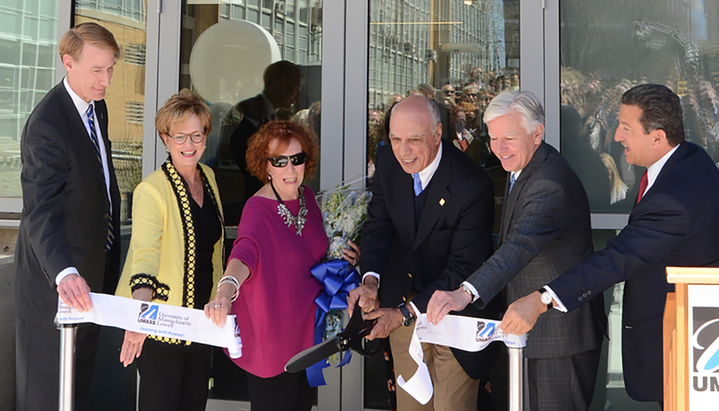 Ribbon cutting at Perry Hall