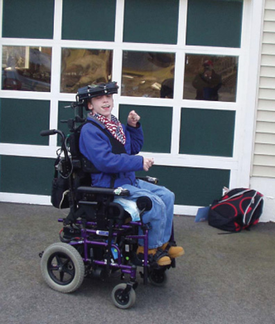 pic of child on wheel chair