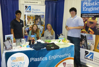 The Plastics Engineering Department had one of eight UMass Lowell booths at the USA Science & Engineering Festival held in Washington D.C. and attended by more than half a million people.