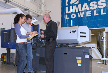 A Sumitomo (SHI) Demag SE-EV Series all-electric injection molding machine is on loan to UMass Lowell's new Emerging Technologies and Innovation Center for the next year.