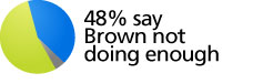 48% say Brown not doing enough