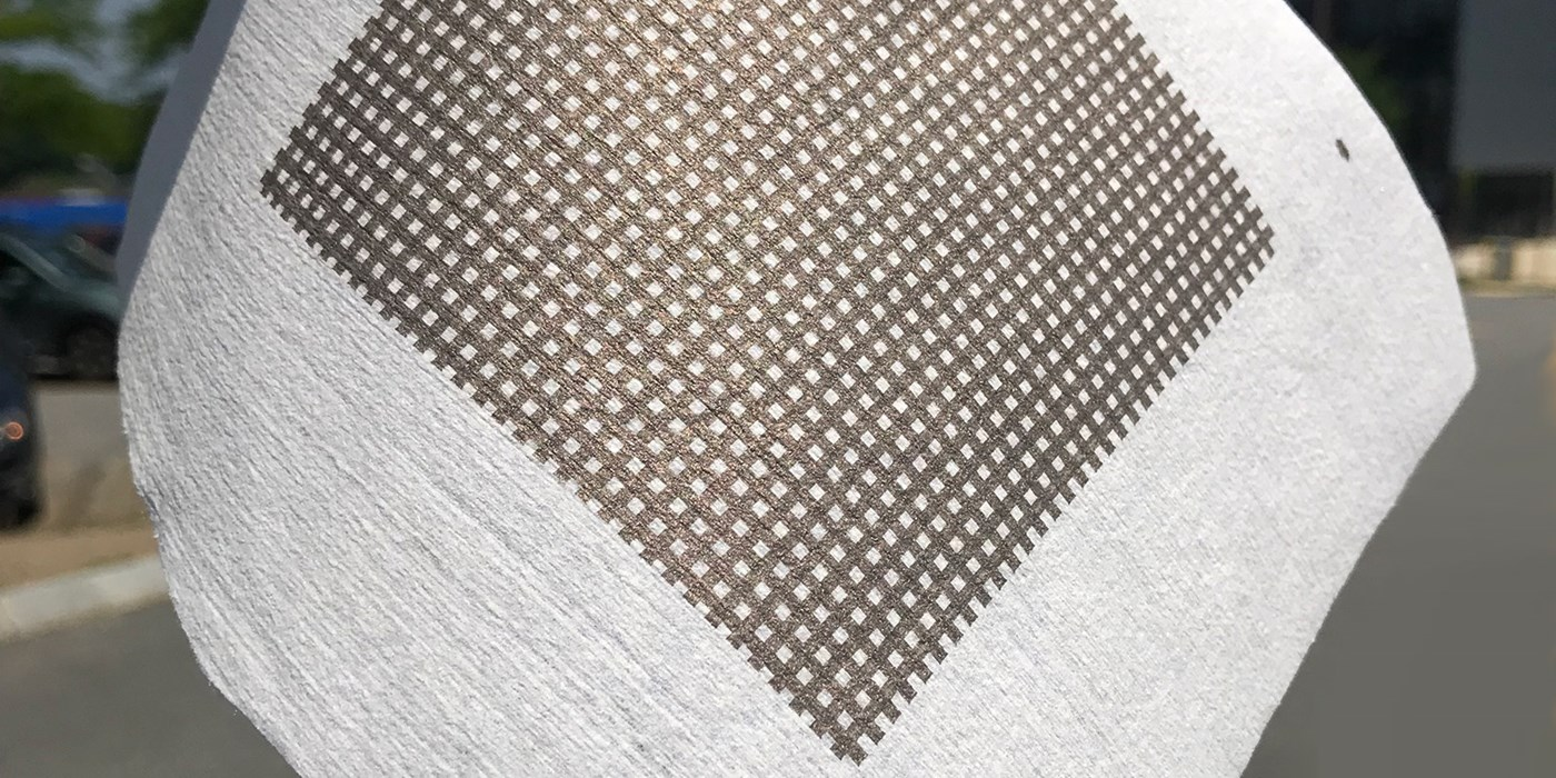 Printed metallic structures on fabric. The UMass Lowell Fabric Discovery Center is home to the first and only site in the nation that integrates discoveries from three Manufacturing USA Innovation Institutes. The synergy between high-tech fabrics and flexible electronics combined with robotics could change the world.