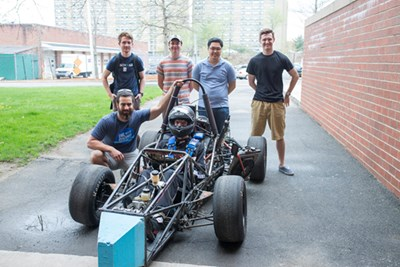 The River Hawk Racing team with their car