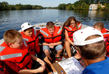 Fifth-grade students from the J.W. Killam Elementary School in Reading took a field trip on the Merrimack River late last month.