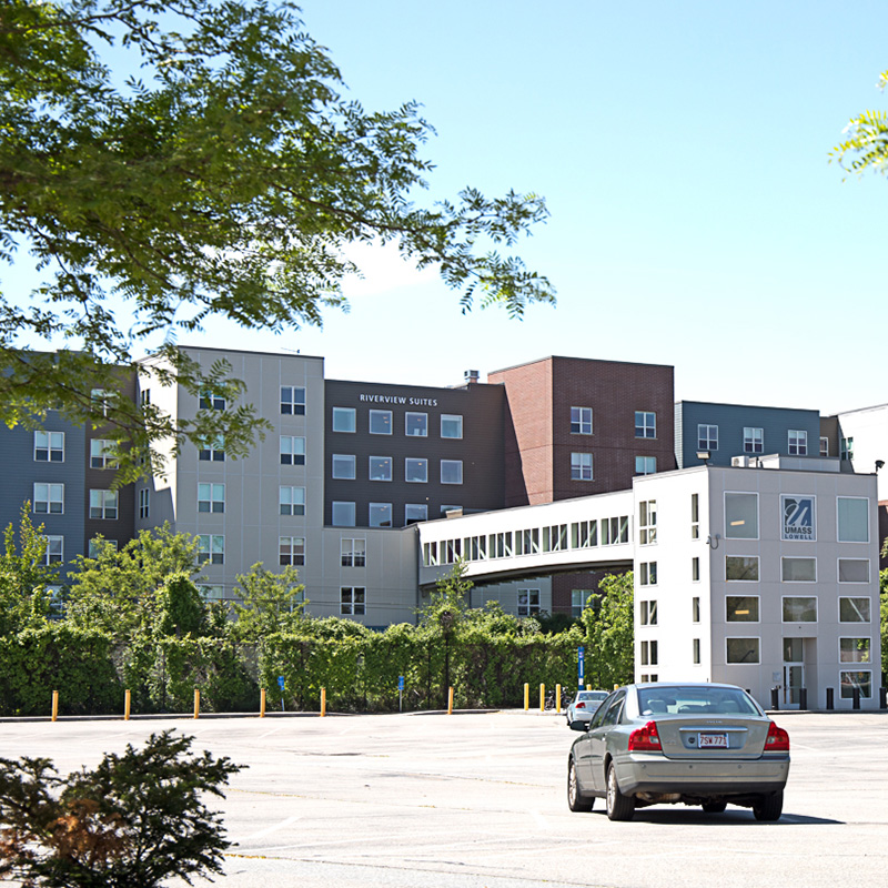 Riverview Suites is a student residence hall on the UMass Lowell campus