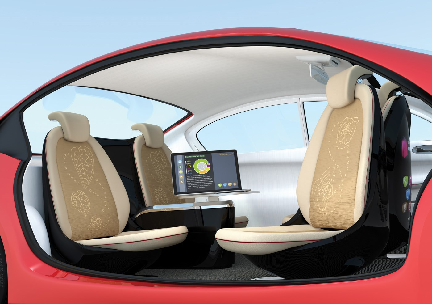 robotic driverless car picture