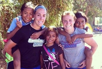 UMass Lowell women's soccer players participate in Soccer Without Borders in Nicaragua