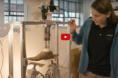 Nonspec's Erin Keaney works on prosthetic