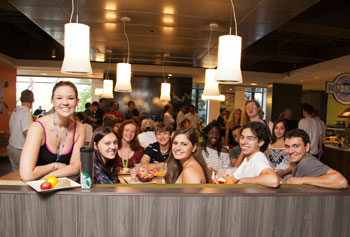 Students celebrated the new school year in the renovated University Dining Commons. Photo by Meghan Moore