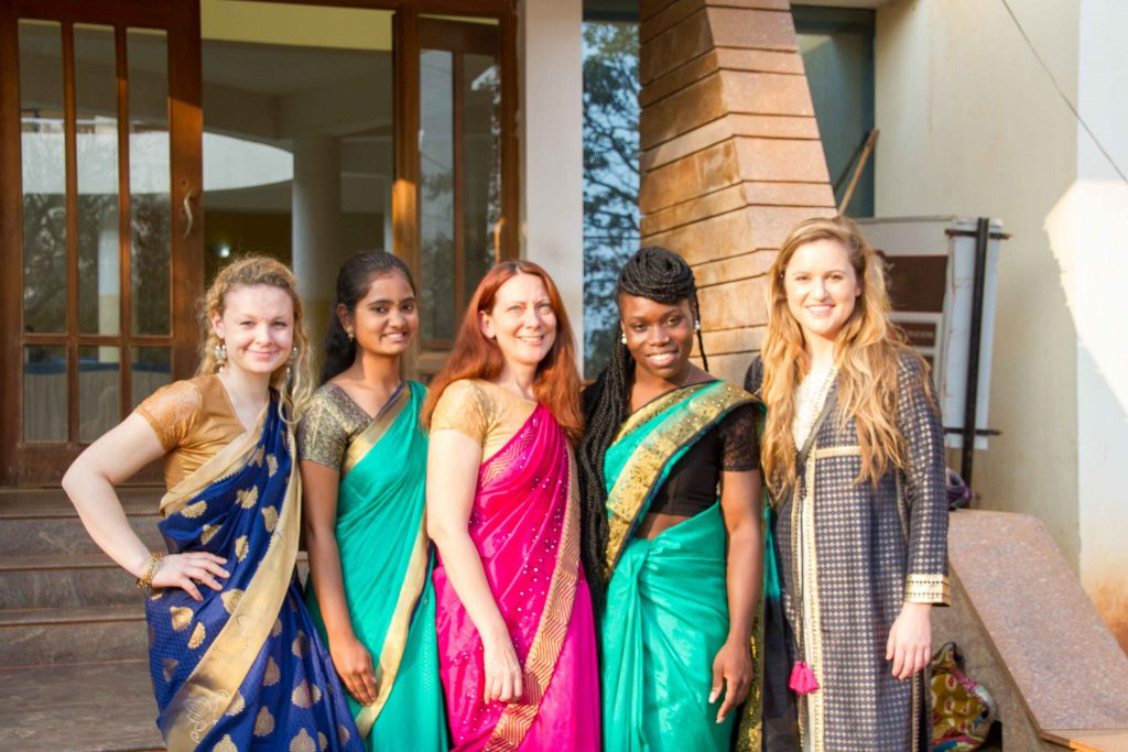 On Monday, January 8, 2018 UMass Lowwell study abroad students celebrated culture day by dressing in traditional Indian clothes and showing up to class.