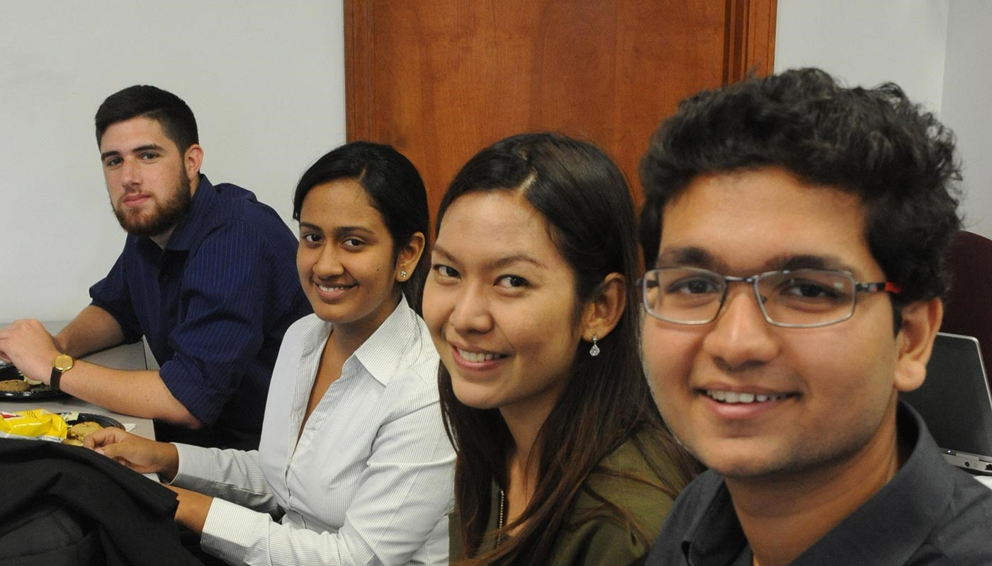 Students from the Manning School of Business Innovation and Entrepreneurship Exchange