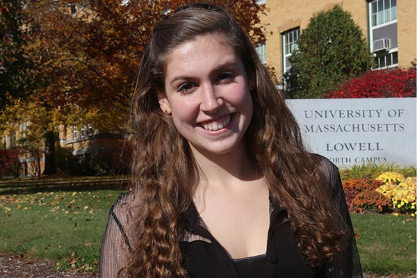 UMass Lowell freshman Kierra Walsh, 18, of Billerica.